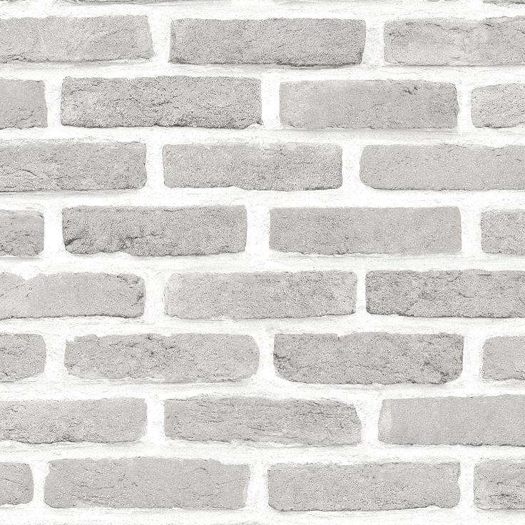 Grey Brick Effect Wallpaper | Departments | DIY at B&Q