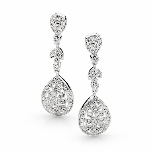 Princess Crystal Pave Event Earrings