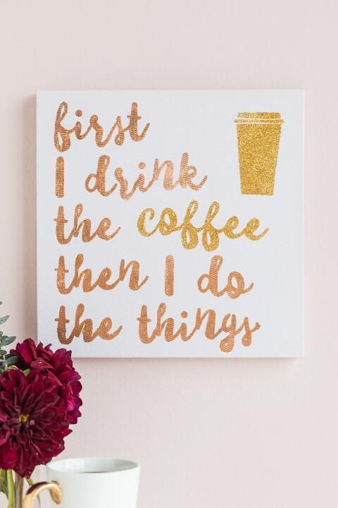 Coffee And Do Things Canvas Wall Decor