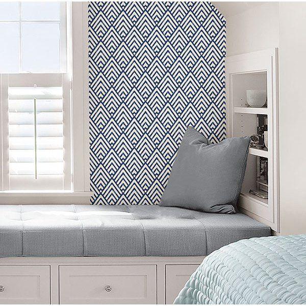 Nuwallpaper Arrowhead Deep Blue Peel Stick Wallpaper Walmart Com In 2021 Nuwallpaper Peel And Stick Wallpaper Home