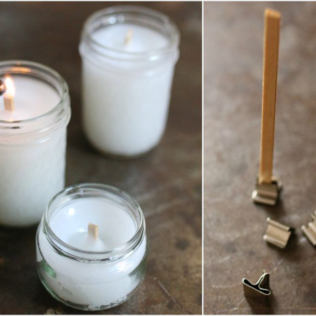 Make your own wood wicks instead of purchasing them. I'm going to consolidate all my candles and do this!