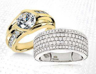 Our Gold, Platinum and Sterling Silver mens diamond rings are simply spectacular...and so are the prices! Looking for the finest platinum, yellow gold, rose gold or white gold men's diamond rings available? We have them all at ItsHot.com. From masculine and sophisticated designs to sleek and contemporary to hip hop bling mens rings; our entire selection of men's diamond rings which includes a great selection of pinky rings is of the highest quality. Our reputation for selling the fine...