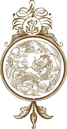 Ganesh, Dragon, Phoenix design for Indian & Chinese wedding invitation by Inviteink.com