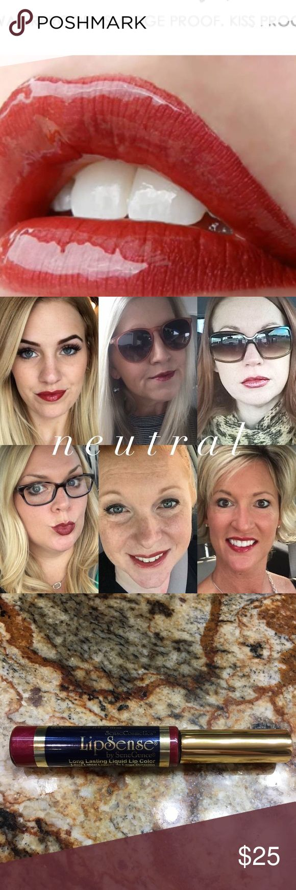 Lipsense NEUTRAL 18 Hour 👄 Lipstick In Stock!!! Brand new, sealed!  Neutral is a perfect berry Red that works with all skin tones The premier product of Senegence, LipSense lasts all day – up to 18 hours. It is water-proof, kiss-proof, smudge-proof, and completely budge-proof. LipSense comes in a variety of captivating colors and can be layered to produce your own custom look.  Must be worn with a Lipsense gloss. Brand new, sealed!  COMMENT BELOW WITH YOUR EMAIL TO GET DISCOUNT INFORMATION…