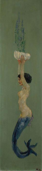 Mermaid!  birdsong27:    Max Klinger - Meerjungfrau eine Muschelschale empor haltend, 1912.
