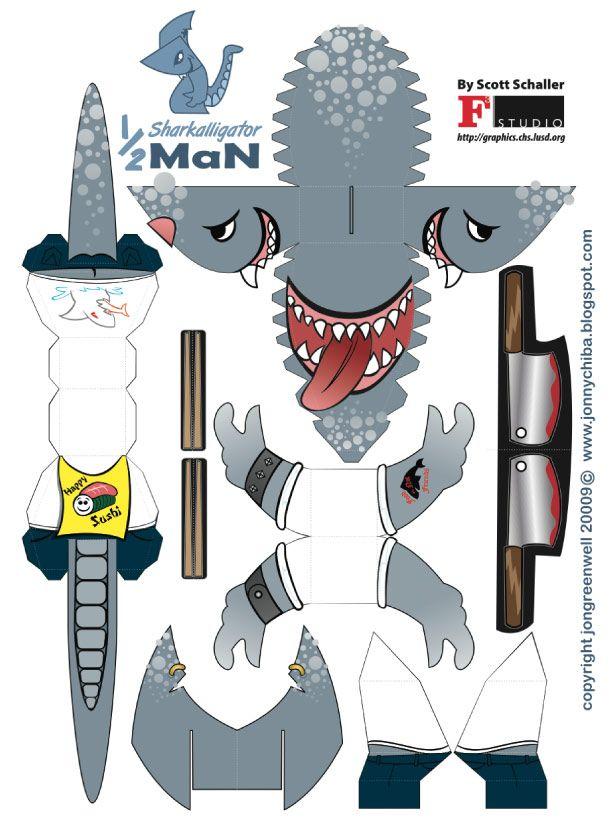 картинки акула схемы из бумаги многом выбор