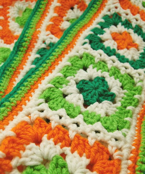crocheted st patricks day garden flag