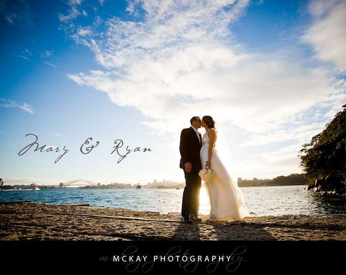 Bradley's Head wedding photo