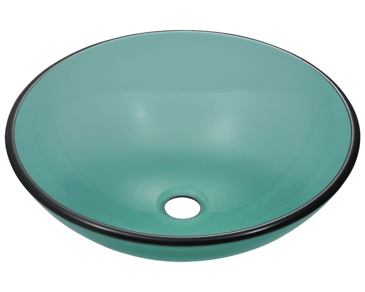 Polaris 16 Glass Round Bathroom Vessel Sink   Emerald The Glass Vessel Sink  Is Manufactured Using Fully Tempered Glass. This Allows For Higher  Temperatures ...