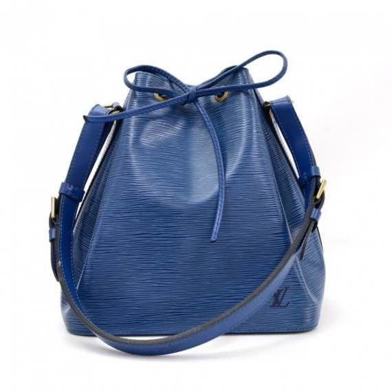 Vintage Louis Vuitton Petit Noe Blue Epi Leather Shoulder Bag LN165