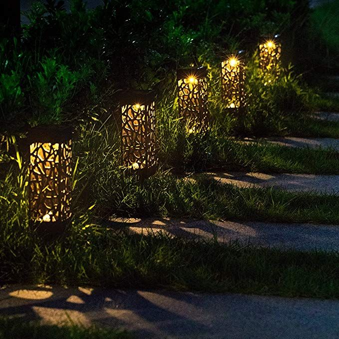 Amazon Com Beau Jardin Solar Lights Outdoor Garden Powered Path Lighting Solar Glow Led Pathway L Solar Lights Garden Lawn Lights Outdoor Gardens Landscaping