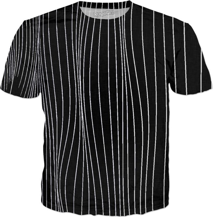 The Strings - asymetric black and white pattern, geometric strpes, striped theme shirt design - for more art and design be sure to visit www.casemiroarts.com, item printed by RageOn at www.rageon.com/a/users/casemiroarts - also available at www.casemiroarts.com - This product is hand made and made on-demand. Expect delivery to US in 11-20 business days (international 14-30 business days). (time frames are aproximate) #shirts #clothing #style #unique