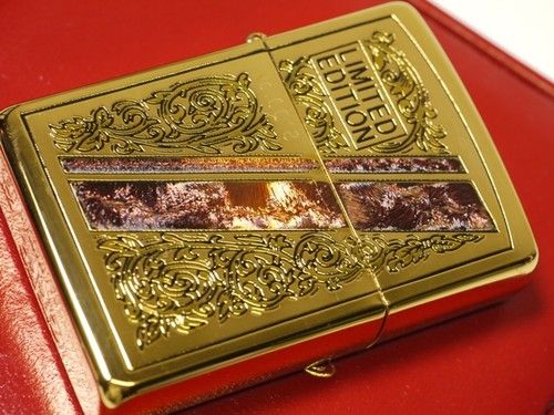 ZIPPO ARABESQUE LIMITED EDITION GOLD COATING VERY RARE