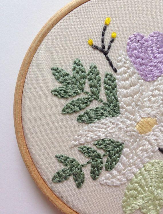 Spring Wild Bloom Embroidered Hoop Hoop Art by wildbloomstitch