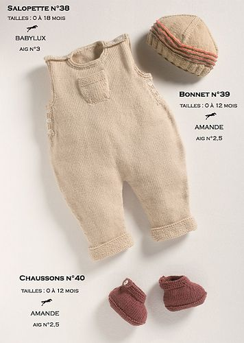 Ravelry: CB12 Dungarees-Hat-Slippers N°38-39-40 pattern by Cheval Blanc Official