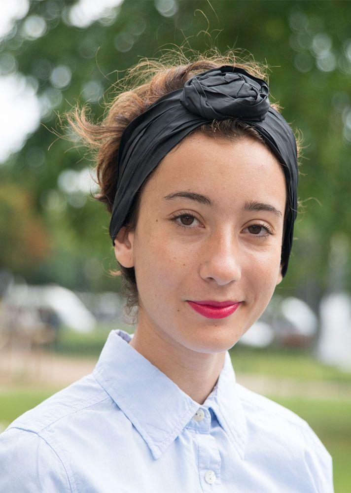 STYLECASTER | Ways to Wear Hair Accessories | Black Headband