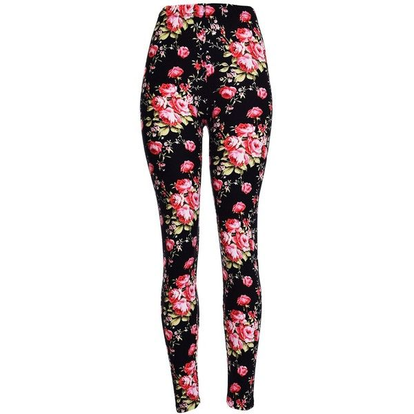 AmazonSmile: PLUS SIZE High Quality Printed Leggings (Rose Noir):... (17 CAD) ❤ liked on Polyvore featuring pants, leggings, legging pants, plus size trousers, womens plus pants, womens plus size pants and rose pants