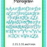 Janda Stylish Monogram Alphabet