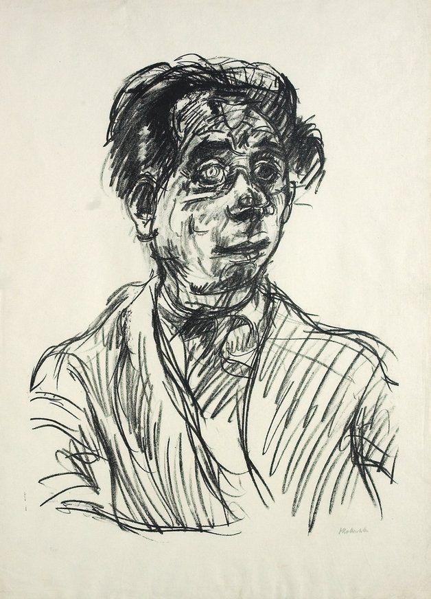 Oskar Kokoschka Drawings   Oskar Kokoschka, Max Reinhardt, 1919. Lithograph