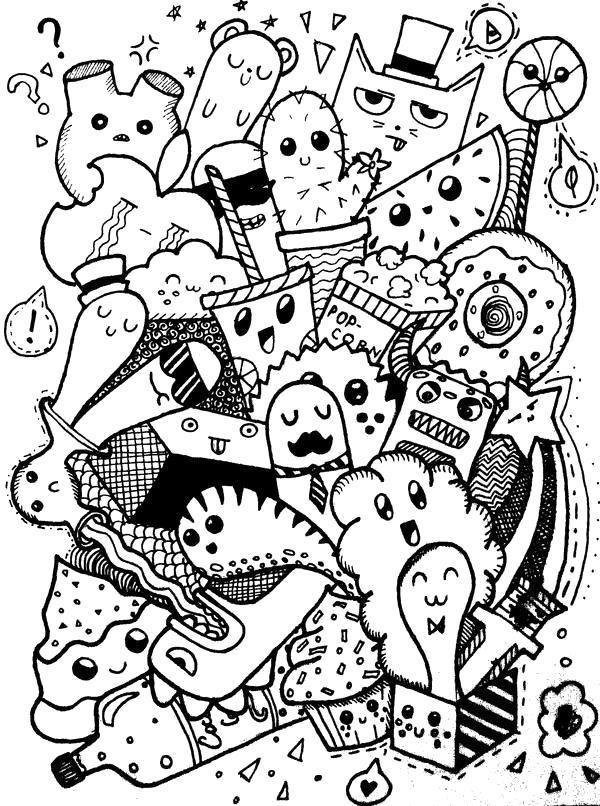 Красивые черно-белые рисунки для распечатки обработку нужно