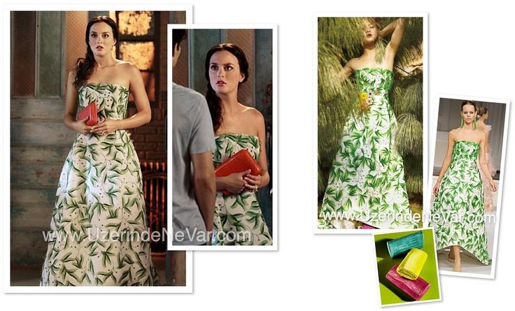 Blair (Leighton Meeste) – Oscar de la Renta (elbise) & Nancy Gonzalez (çanta) Devamı www.UzerindeNeVar.com 'da!