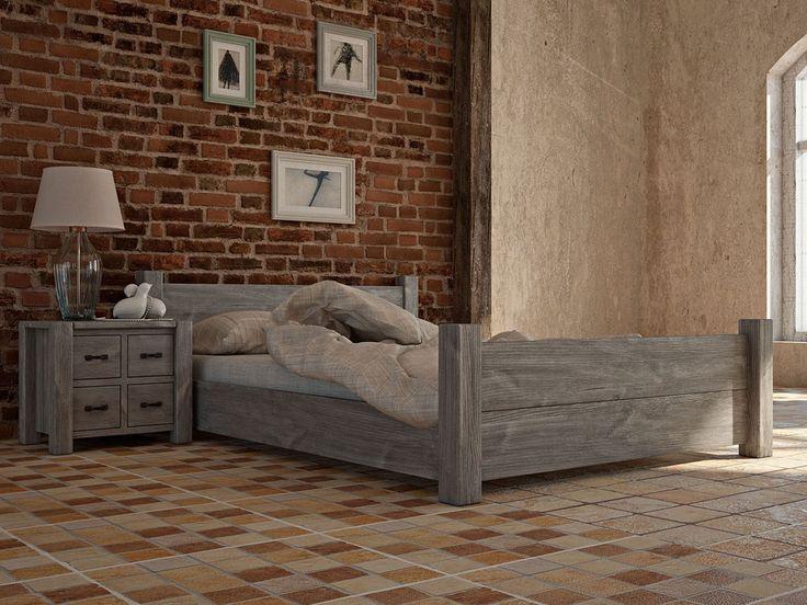 Łóżko drewniane rustykalne Country 27 180 cm