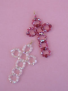 Simple Beaded crosses. http://www.terryriciolidesigns.blogspot.com/search?updated-max=2012-06-17T20:06:00-07:00=7