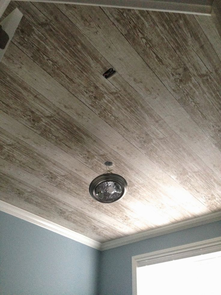 1000 images about bathroom painting on pinterest for Faux wood ceiling planks