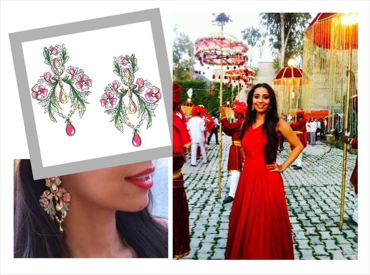 Designed these earrings inspired by the wild Indian roses. #pallavifoley #design #art #MeWearingMyDesign