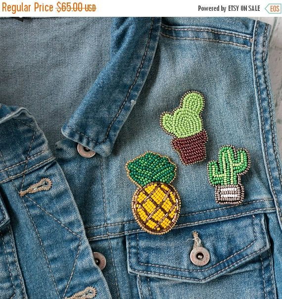 Embroidered Brooches Summer Outdoor Party Idea Summer Gift
