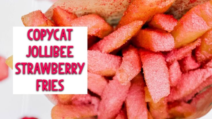 Are you game to try Strawberry Fries? Here is my Copycat Jollibee Strawberry Fries Recipe. Have you heard of the Strawberry Fries craze happening in Indonesia?