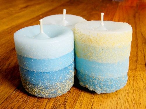 Sand Cast Candles - how to make your own candle molds from sand.