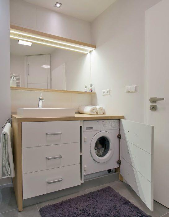 Place for a washing mashine