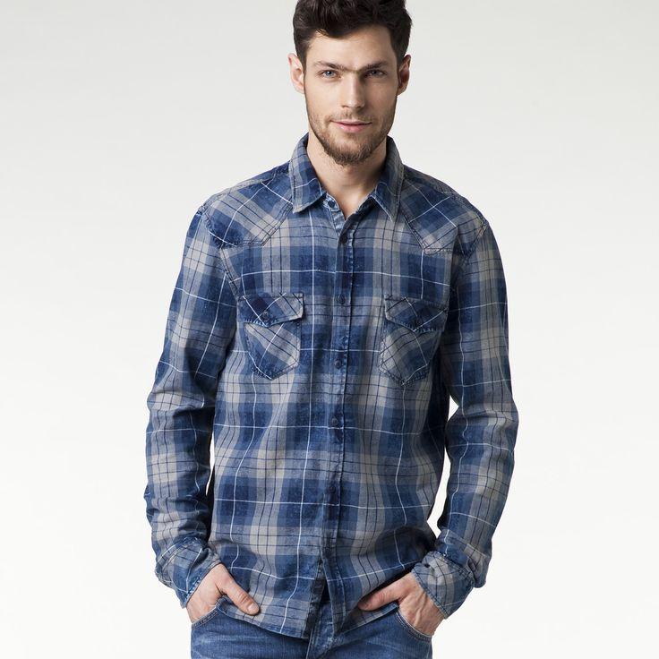 jeansstore #ss15 #spring #summer #springsummer15 #new #newarrivals #newproduct #onlinestore #online #store #shopnow #shop #fashion #men #mencollection #mustang #shirt #checked #indigo #bigcheck #cotton #slim