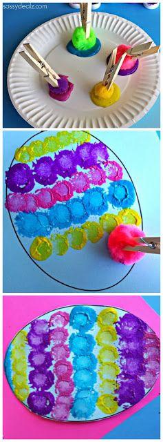 Svampmålning för förskolebarn