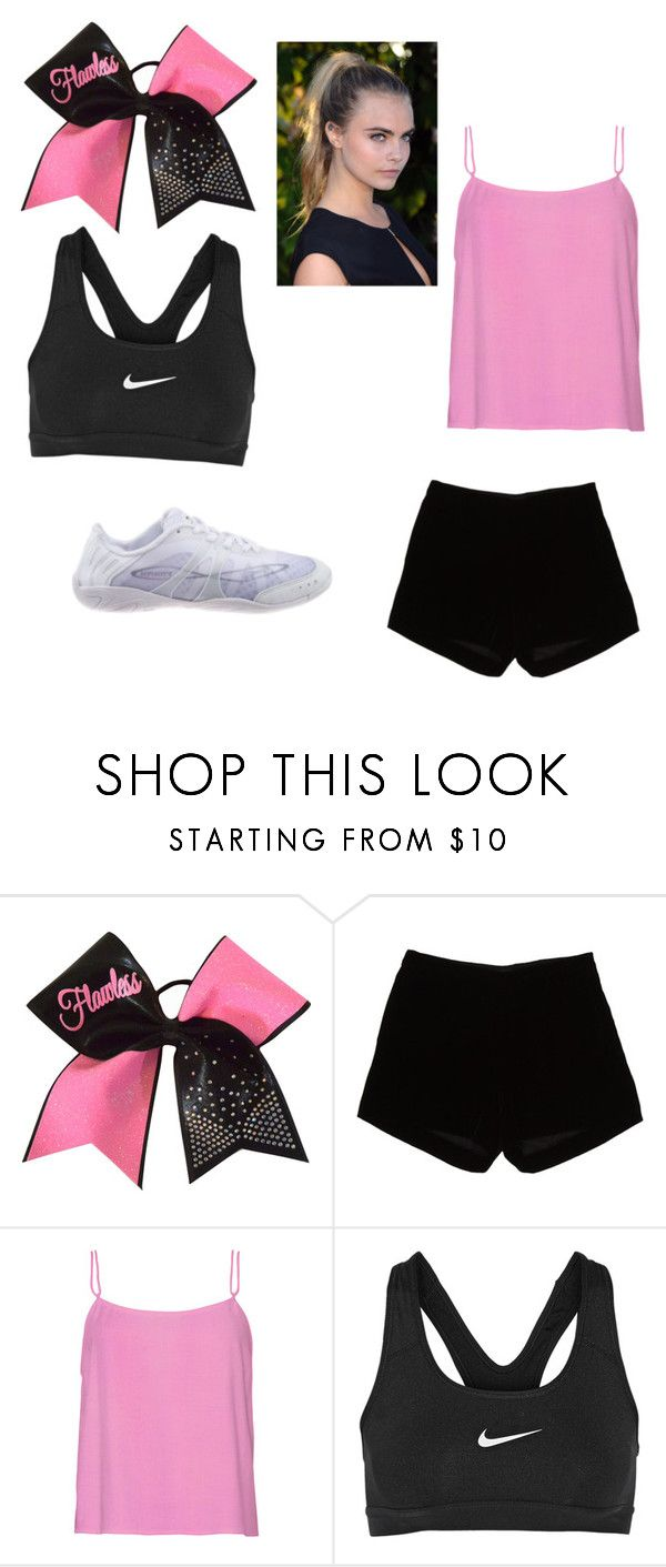 """Cheer outfit for practice"" by dimondcat on Polyvore featuring Andrew Gn and NIKE"
