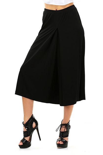 Michael Kors - Pantaloni - Abbigliamento - Pantaloni ampi al polpaccio con elastico in vita, e in tessuto elasticizzato. - BLACK - € 135.00