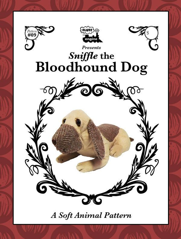 Bloodhound Dog - plush toy dog pattern by FluffEngine on Etsy
