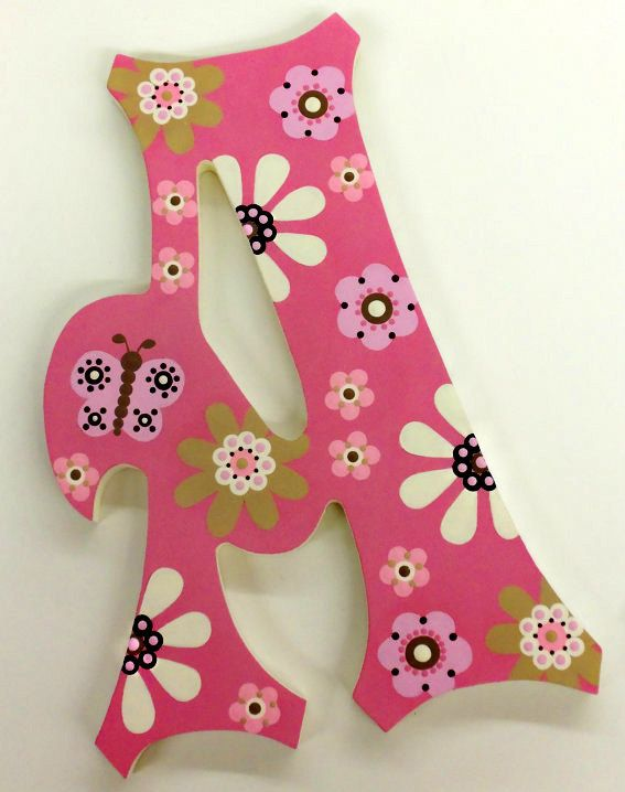 Custom Hand Painted Wooden Wall Letters by PoshDots on Etsy.