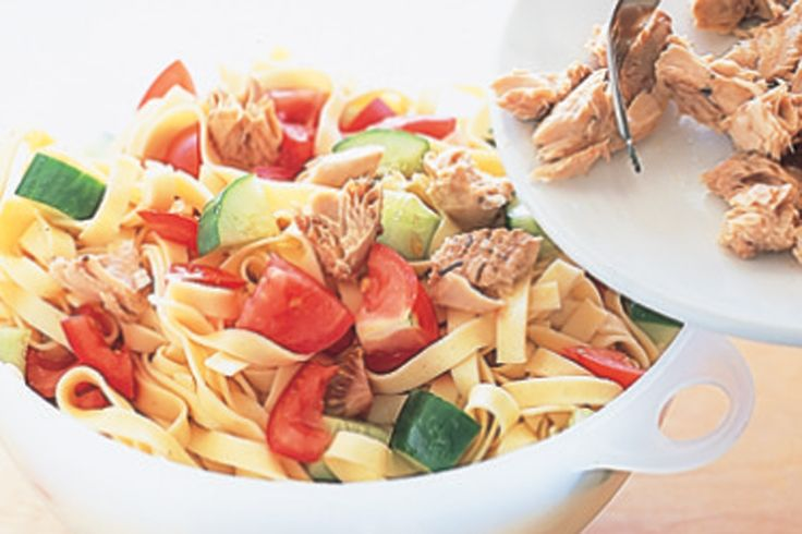 Quick and easy, this colourful summer pasta dish is perfect for when you don't feel like spending hours in the kitchen.