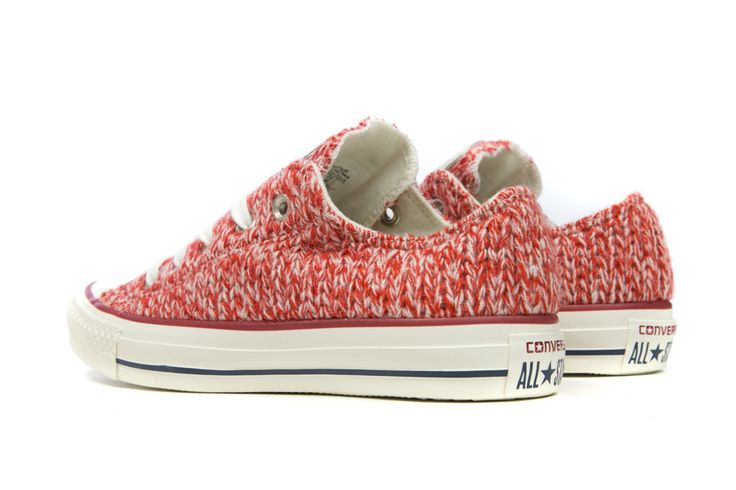 Converse Women's Chuck Taylor All Star Ox Knit - Firebrick/Egret