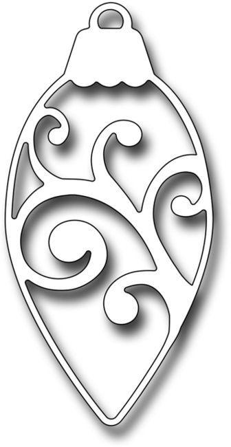 Frantic Stamper Dies - Scroll Pinecone Ornament