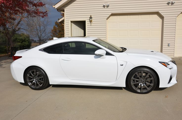 White Lexus RC Coupe