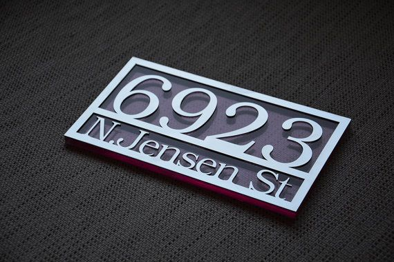 Relatively 36 best Address Sign images on Pinterest | Contemporary houses  TJ06