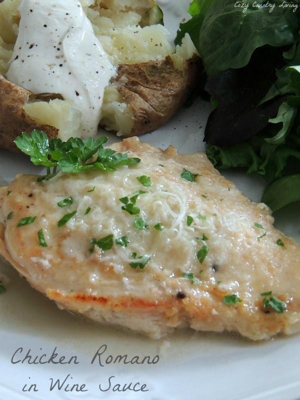Chicken romano sauce recipe