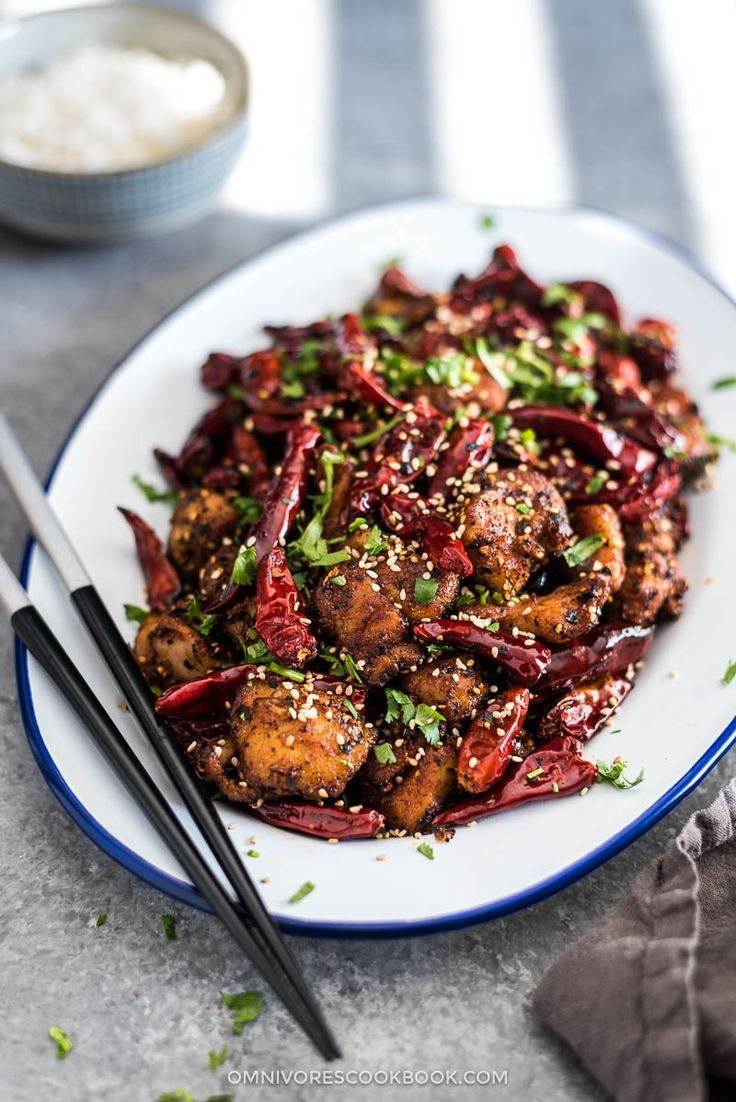 Sichuan Mala Chicken (辣子鸡, La Zi Ji) | Chinese Food | Stir Fry | Spicy | Szechuan | Chicken