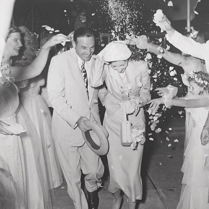 This is my grandparents. 66 years ago on their wedding day.  Last week they celebrated 66 years of unconditional love hand holding snuggling and laughter. (And look at them trend setting in 1951 throwing flower petals!) They grew a legacy I'm proud to be a part of and when I see them together in these pictures and still today this is the pinnacle of what I hope for at every wedding for my couples. . I hope that they find an unconditional love that despite 66 years of marriage they'll still…