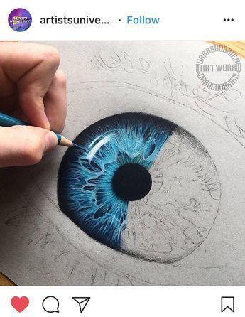 Cliquez pour voir l'picture. Yeux Dessin – Couleurs Fascinant #colours #drawing …