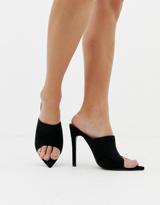 a8ecb680ef0 PrettyLittleThing pointed high heeled mule in black in 2019 | asos ...
