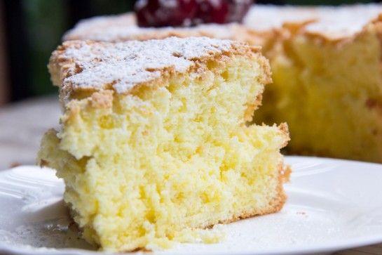 Gluten-free Lemon Cake  Angel-food-like cake made with eggs, potato starch, sugar, and lemon.